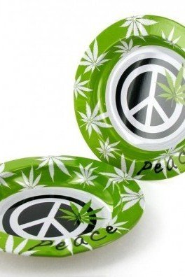 Aluminium Ashtray Peace