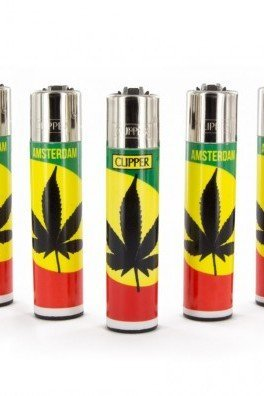 Clipper Lighter Rasta Ganja