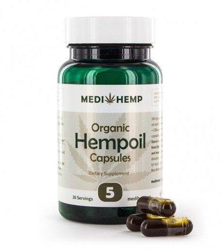Medihemp Organic Hemp Oil Capsules (5% CBD + CBDA)