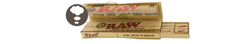 RAW Connoisseur Rolling Papers King Size + Prerolled Tips