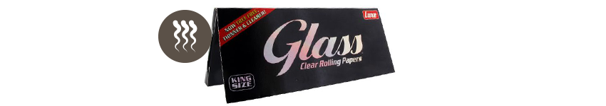 GLASS ROLLING PAPERS TRANSPARENT KING SIZE