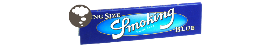 SMOKING BLUE KING SIZE ROLLING PAPERS