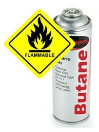 Butane is highly flammable!