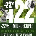 422 Promo: 22% Discount + Free LED Microscope 60x!